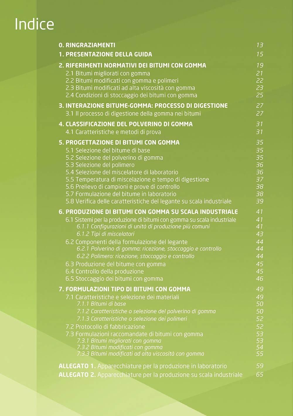 Guida per la produzione di bitumi modificati con polverino di gomma da PFU