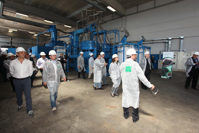 """L'impianto di Corgom durante l'evento """"Impianti Aperti Ecopneus"""", maggio 2012"""