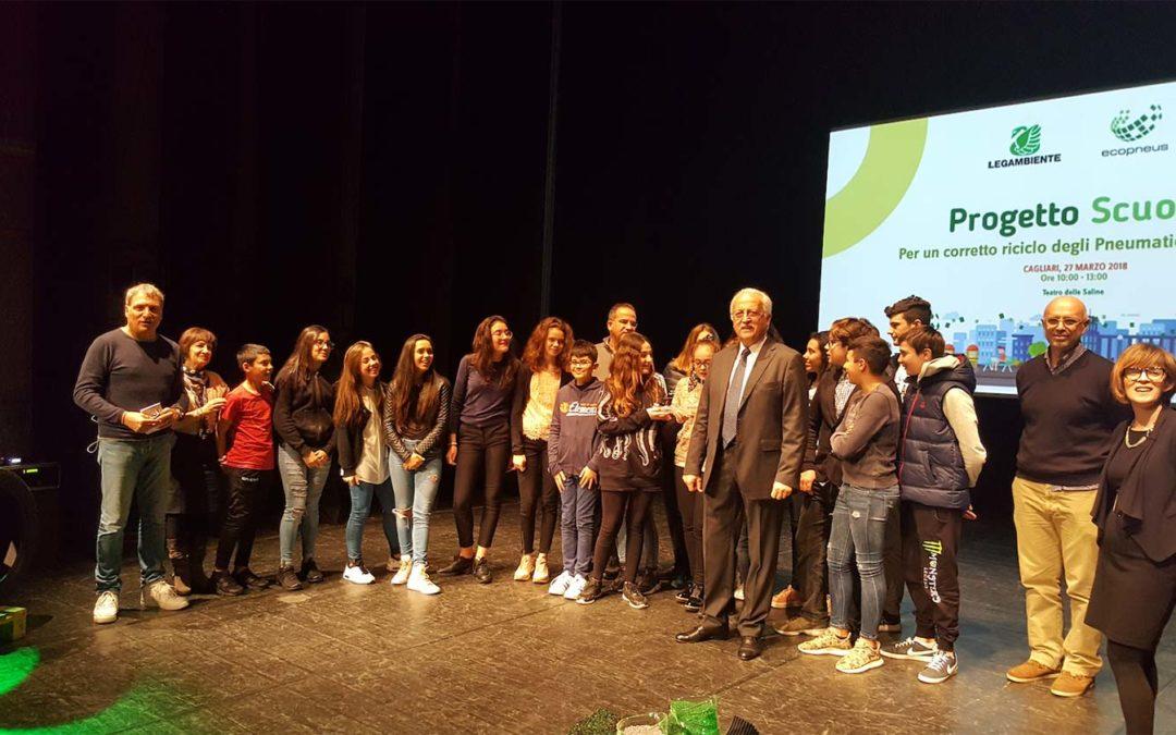 LA GOMMA RICICLATA VA A SCUOLA! Campi sportivi in gomma riciclata per tre scuole sarde finaliste di un progetto formativo sul riciclo dei pneumatici