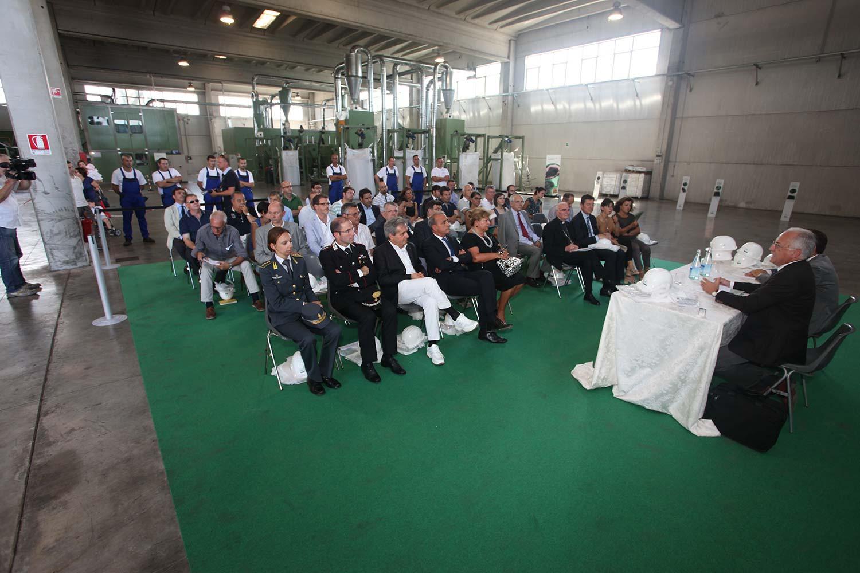 """L'impianto di Steca durante l'evento """"Impianti Aperti Ecopneus"""", luglio 2012"""