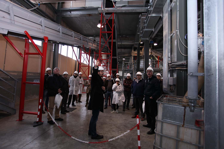 L'impianto di Terni Energia durante Impianti Aperti Ecopneus, novembre 2013