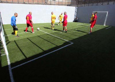 Campo da calcio per detenuti
