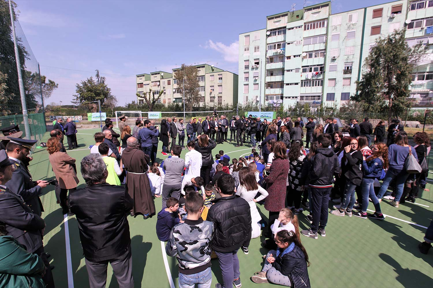 A new meeting space for the children of the Parco Verde neighbourhood of  Caivano - Ecopneus