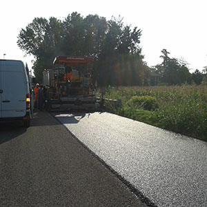 Ferrara a concrete and virtuous example of wastes short chain: a road section was made with asphalt containing End-of-Life Tyre (ELT) recycled rubber