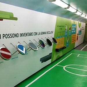 Con il Treno Verde di Legambiente la città di gomma riciclata di Ecopneus attraverserà l'Italia