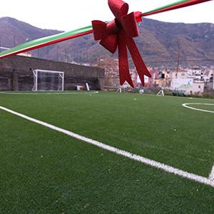 A Gragnano un campo di calcio amico dell'ambiente
