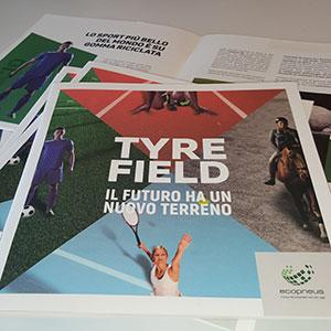 Il futuro ha un nuovo terreno: vi presentiamo il nuovo prodotto di comunicazione Ecopneus per le applicazioni della gomma riciclata nello sport