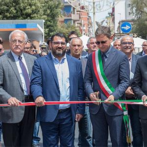 """La """"prima strada ecosostenibile del sud Italia"""" inaugurata a Massafra, Taranto"""
