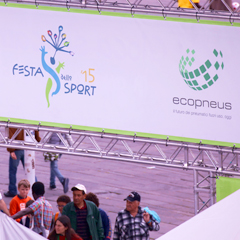 La gomma riciclata alla Festa dello Sport di Genova