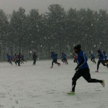 Practice even in the snow for Atalanta thanks to the artificial turf field with recycled rubber realized in collaboration with Ecopneus ahead of Sunday's match against Fiorentina