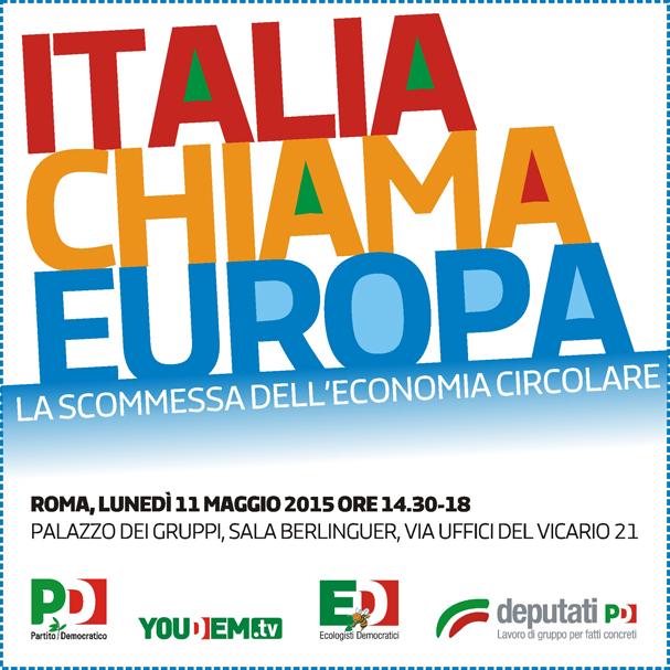 """Ecopneus tra i relatori del convegno """"Italia Chiama Europa: la scommessa dell'economia circolare"""""""