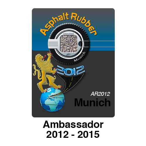 Asphalt Rubber Ambassador 2012 - 2015