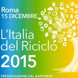 L'Italia del riciclo 2015, presentazione il 15 dicembre