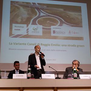 La Variante Canali di Reggio Emilia: realizzata 6 anni fa con asfalti modificati con gomma da riciclo, non ha avuto necessità di nessun intervento di manutenzione