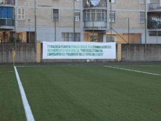 Il nuovo campo dello stadio di Scampia