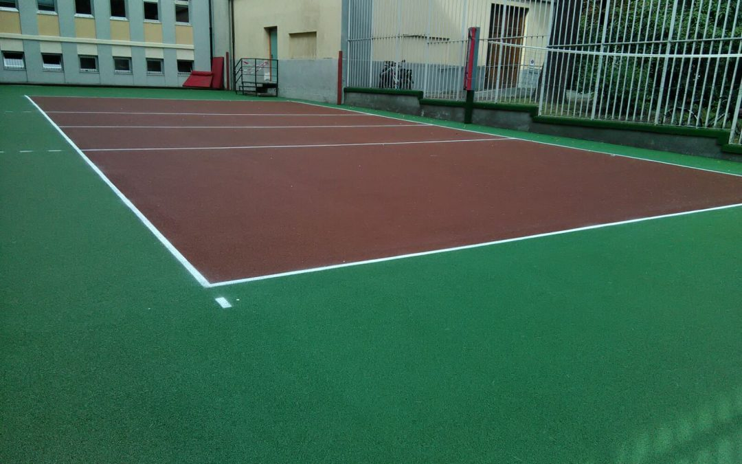The Tyrefield Award to Aosta, on the recycled rubber sports surface donated by Ecopneus for the Educational Project