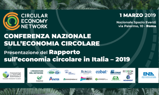 """""""Conferenza nazionale sull'economia circolare"""" 1 marzo, Roma"""