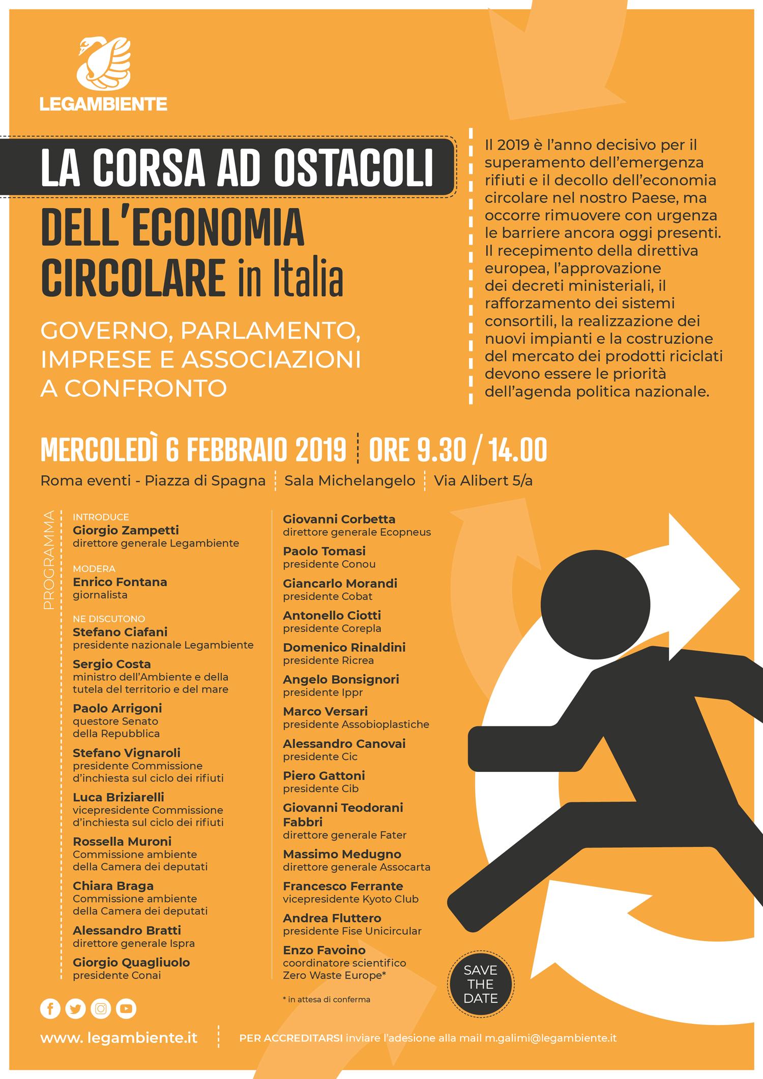 Programma corsa ostacoli Legambiente2019