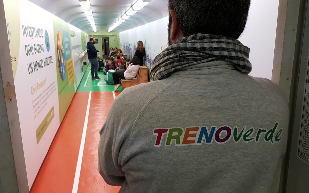 The TrenoVerde in Padua: 23,000 tonnes of ELTs were managed by Ecopneus in Veneto in 2018.