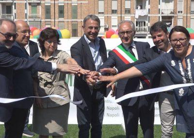 inaugurazione campo Caserta