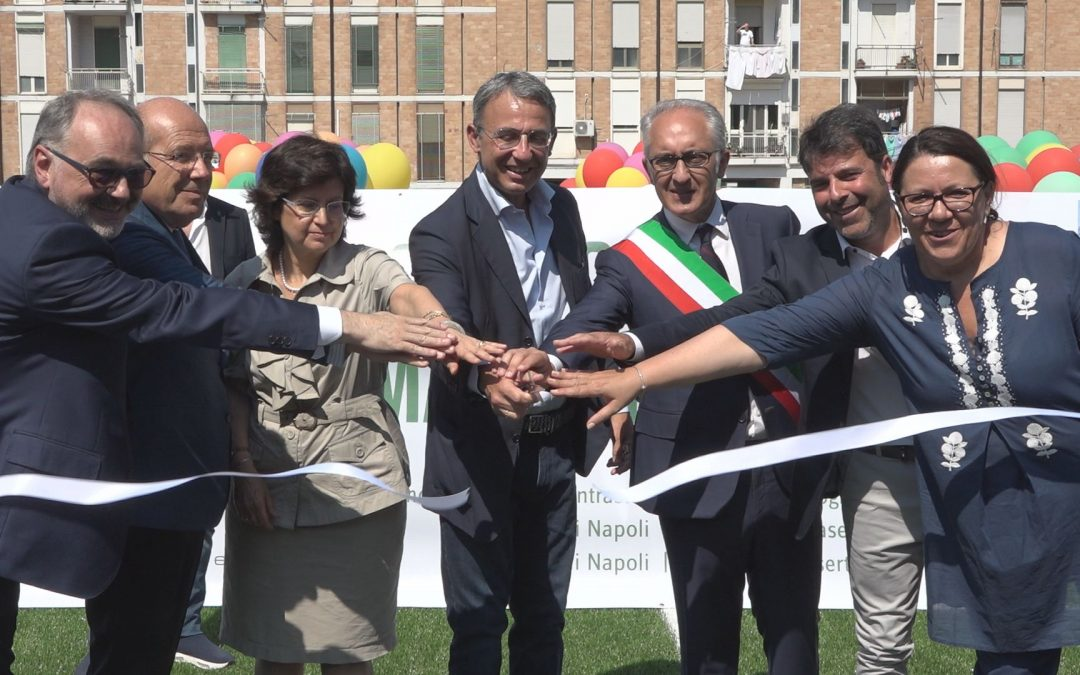 Two new football pitches made with recycled rubber give new hope to Caserta