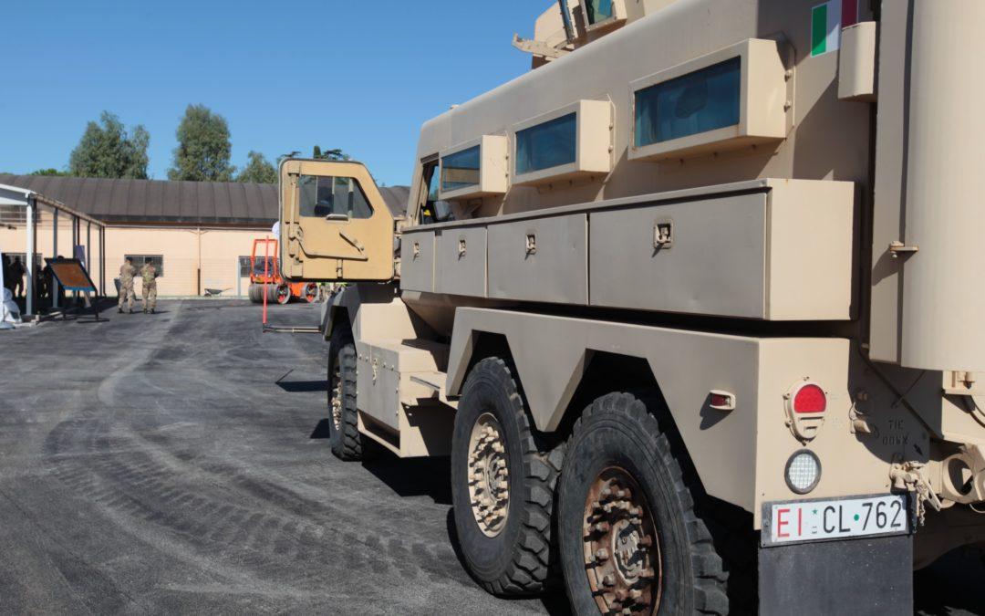 Collaborazione Ecopneus-Forze Armate: asfalto modificato alla Cecchignola