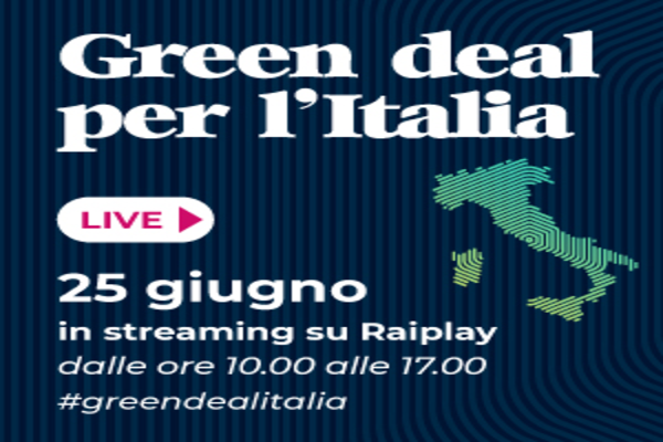"""Anche Ecopneus partecipa a """"Green Deal per l'Italia"""" maratona TV in streaming su Rai Play promossa da Fondazione per lo Sviluppo Sostenibile"""