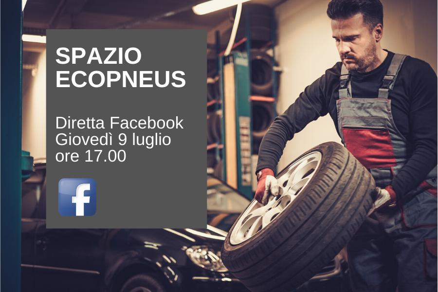 """Diretta Facebook """"Spazio Ecopneus"""": incontro e dialogo con gli operatori del ricambio"""