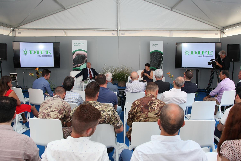 """L'impianto di Dife durante l'evento """"Impianti Aperti Ecopneus"""", luglio 2016"""