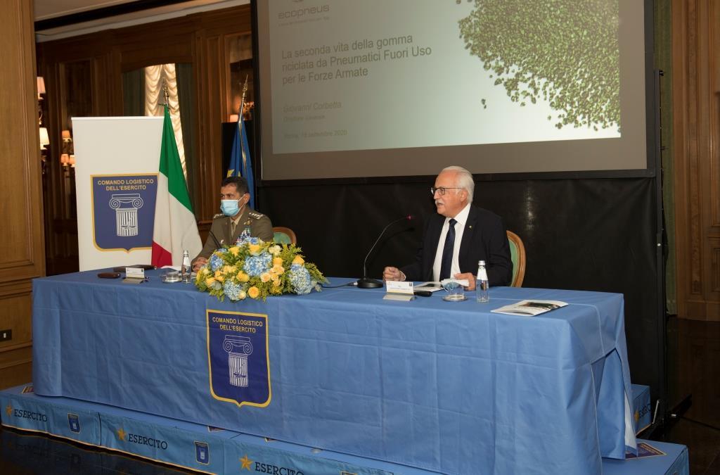 Siglato nuovo accordo Esercito Ecopneus: asfalto in gomma riciclata presso il Centro Ospedaliero Militare di Milano