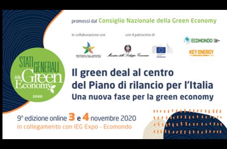 Gli Stati Generali della Green Economy si riuniscono ad Ecomondo in una nuova edizione digitale: aperte le iscrizioni