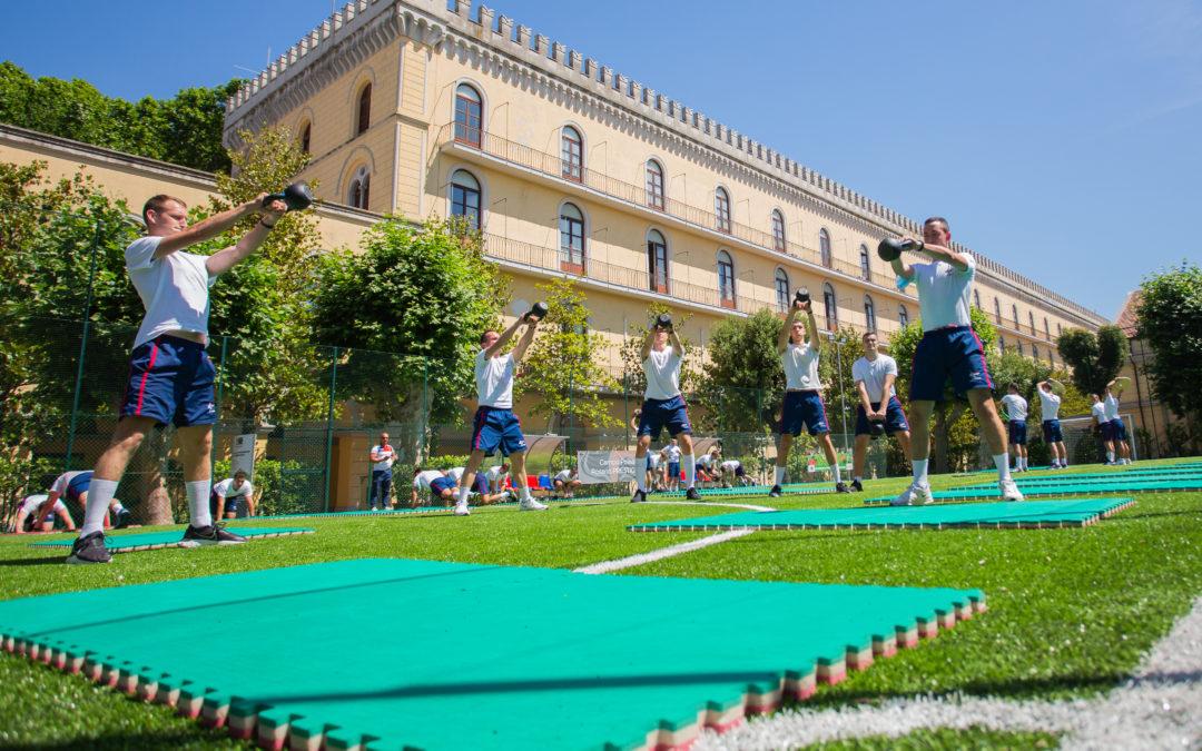 Sport su gomma riciclata nel rispetto dell'ambiente nella Legione Allievi Carabinieri di Roma