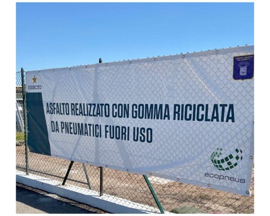 Ecopneus and the Army: a collaboration that carries on also with the Covid-19 Vaccination Centre in the Military Citadel of the Cecchignola in Roma
