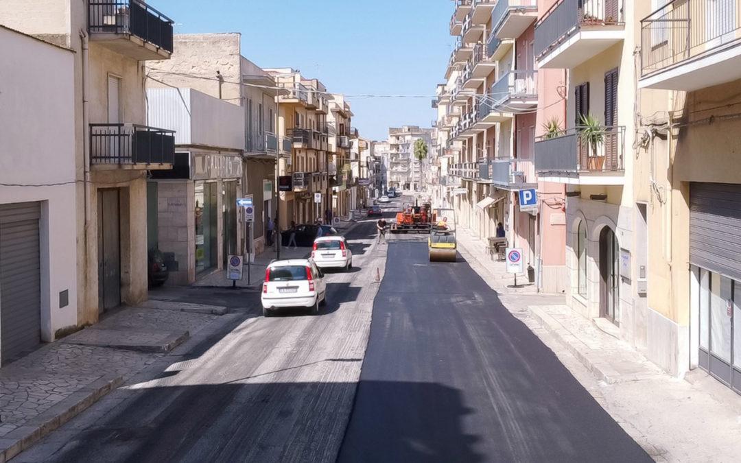Le strade del futuro sono amiche dell'ambiente:  ad Alcamo (TP) arrivano gli asfalti realizzati con gomma riciclata da Pneumatici Fuori Uso