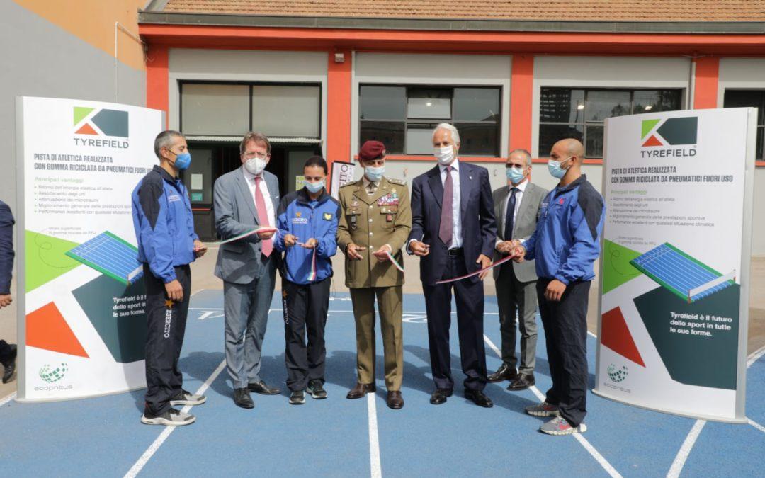 All'Accademia Militare di Modena una pista di atletica con gomma riciclata da Pneumatici Fuori Uso grazie ad Ecopneus
